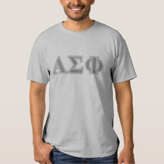 Alpha Sigma Phi Grey Letters T Shirt