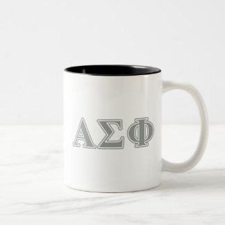 Alpha Sigma Phi Grey Letters Two-Tone Coffee Mug