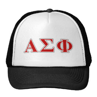 Alpha Sigma Phi Red and Grey Lettes Cap