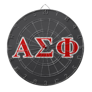 Alpha Sigma Phi Red and Grey Lettes Dartboard