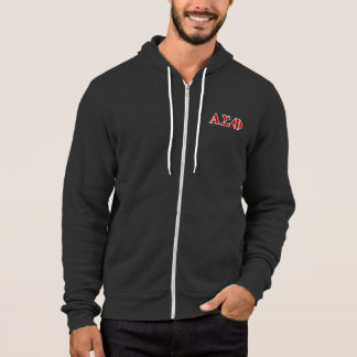 Alpha Sigma Phi Red and Grey Lettes Hoodie