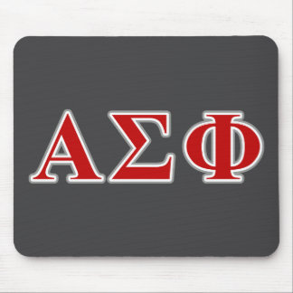Alpha Sigma Phi Red and Grey Lettes Mouse Mat