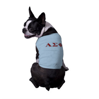 Alpha Sigma Phi Red and Grey Lettes Sleeveless Dog Shirt