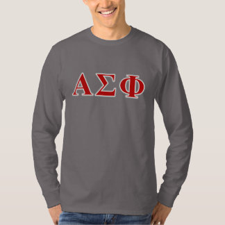 Alpha Sigma Phi Red and Grey Lettes T-Shirt