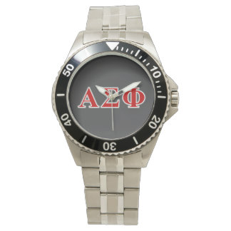 Alpha Sigma Phi Red and Grey Lettes Watch
