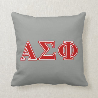 Alpha Sigma Phi Red Letters Cushion