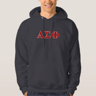 Alpha Sigma Phi Red Letters Hoodie