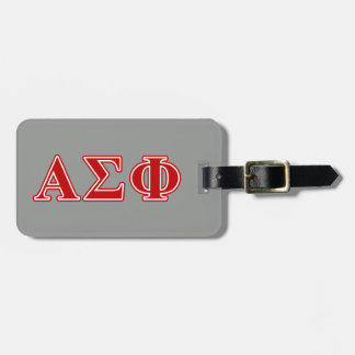 Alpha Sigma Phi Red Letters Luggage Tag