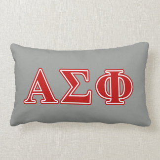 Alpha Sigma Phi Red Letters Lumbar Cushion