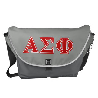 Alpha Sigma Phi Red Letters Messenger Bags