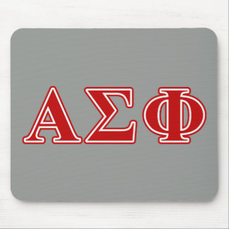 Alpha Sigma Phi Red Letters Mouse Mat