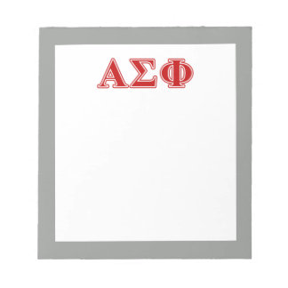 Alpha Sigma Phi Red Letters Notepad