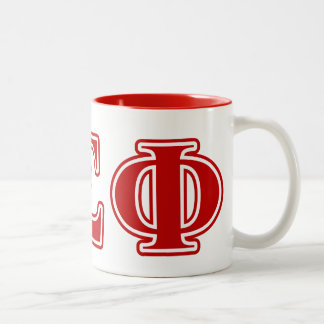 Alpha Sigma Phi Red Letters Two-Tone Coffee Mug