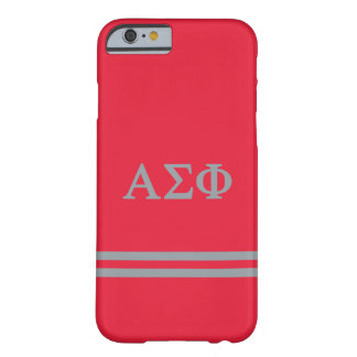Alpha Sigma Phi   Sport Stripe Barely There iPhone 6 Case