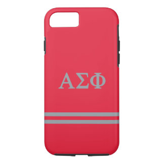 Alpha Sigma Phi | Sport Stripe iPhone 7 Case