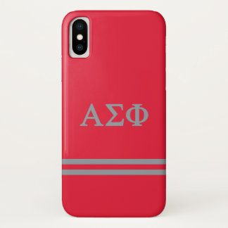 Alpha Sigma Phi | Sport Stripe iPhone X Case