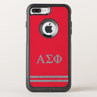 Alpha Sigma Phi | Sport Stripe OtterBox Commuter iPhone 7 Plus Case
