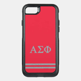 Alpha Sigma Phi | Sport Stripe OtterBox Commuter iPhone 8/7 Case