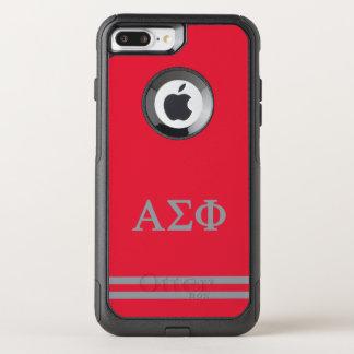 Alpha Sigma Phi | Sport Stripe OtterBox Commuter iPhone 8 Plus/7 Plus Case