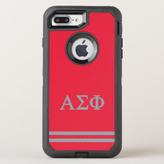 Alpha Sigma Phi | Sport Stripe OtterBox Defender iPhone 7 Plus Case