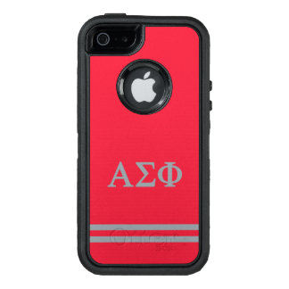 Alpha Sigma Phi | Sport Stripe OtterBox Defender iPhone Case