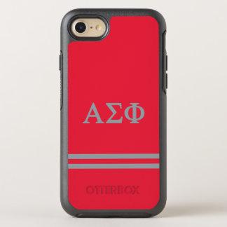 Alpha Sigma Phi | Sport Stripe OtterBox Symmetry iPhone 8/7 Case