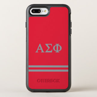 Alpha Sigma Phi | Sport Stripe OtterBox Symmetry iPhone 8 Plus/7 Plus Case