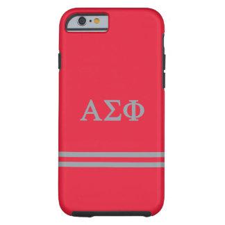 Alpha Sigma Phi   Sport Stripe Tough iPhone 6 Case