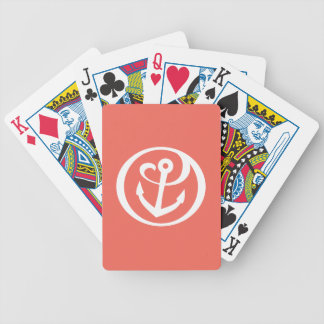 Alpha Sigma Tau Anchor Mark 2 Bicycle Playing Cards