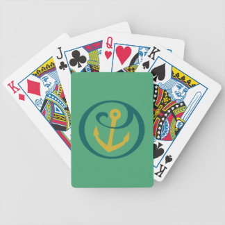 Alpha Sigma Tau Anchor Mark Bicycle Playing Cards