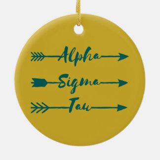 Alpha Sigma Tau Arrow Christmas Ornament