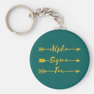 Alpha Sigma Tau Arrow Key Ring