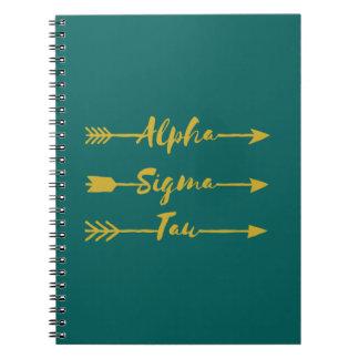 Alpha Sigma Tau Arrow Notebook