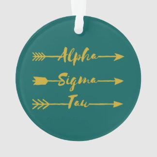 Alpha Sigma Tau Arrow Ornament
