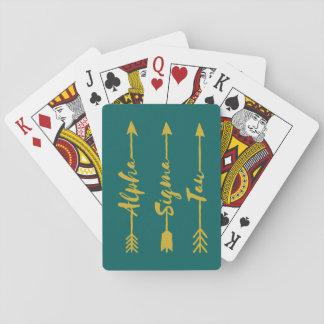 Alpha Sigma Tau Arrow Playing Cards