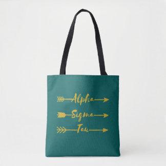 Alpha Sigma Tau Arrow Tote Bag