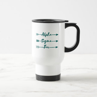 Alpha Sigma Tau Arrow Travel Mug