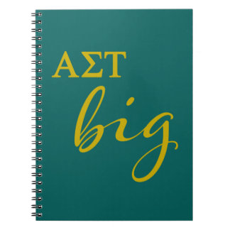 Alpha Sigma Tau Big Script Notebook