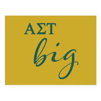 Alpha Sigma Tau Big Script Postcard