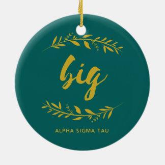 Alpha Sigma Tau Big Wreath Christmas Ornament