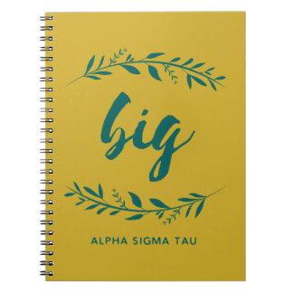 Alpha Sigma Tau Big Wreath Notebook
