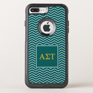 Alpha Sigma Tau | Chevron Pattern OtterBox Commuter iPhone 8 Plus/7 Plus Case