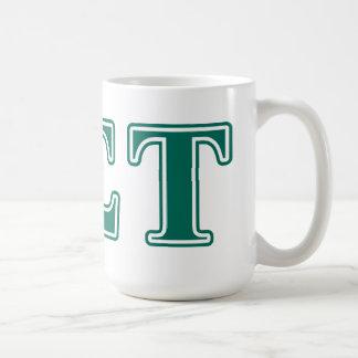 Alpha Sigma Tau Green Letters Coffee Mug