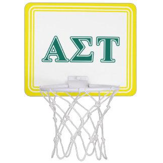 Alpha Sigma Tau Green Letters Mini Basketball Hoop