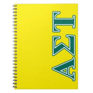 Alpha Sigma Tau Green Letters Notebook