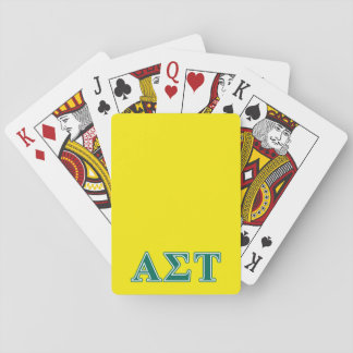 Alpha Sigma Tau Green Letters Playing Cards