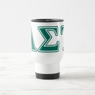 Alpha Sigma Tau Green Letters Travel Mug
