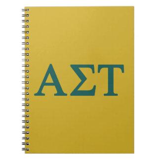 Alpha Sigma Tau Lil Big Logo Notebook