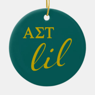 Alpha Sigma Tau Lil Script Christmas Ornament