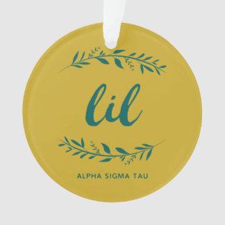 Alpha Sigma Tau Lil Wreath Ornament
